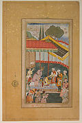 """Emperor Babur Receiving a Visitor"", Folio from a Baburnama (The Book of Babur)"