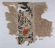 Fragment with a Band of Baskets and Plants and a Loop Pile