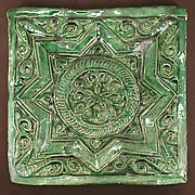 Green Tile with Star Design