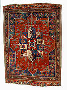 Tribal Carpet with Medallion Design