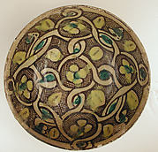 Bowl with Interlace Pattern and Yellow Flowers