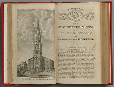 The Massachusetts Magazine, or, Monthly Museum of Knowledge and Rational Entertainment