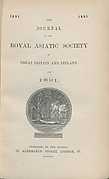 Journal of the Royal Asiatic Society of Great Britain & Ireland