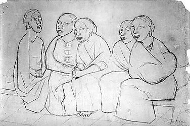 Five Seated Women