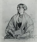 Seated Old Woman Holding a Book