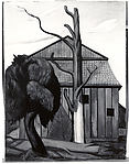 Untitled (Barn and Trees)