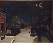 Small Train Station at Night