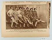 of debutantes wearing Americana Prints dresses while performing for the Benefit of the Henry Street Settlement House