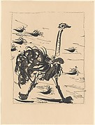 Ostrich, from <i>Picasso: Original Etchings for the Texts of Buffon</i>