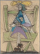 Dora Maar in a Wicker Chair