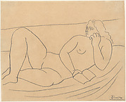 Reclining Bather with a Book