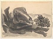 Sheep Skull with Grapes