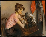 Girl at Sewing Machine