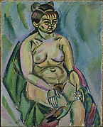 Seated Nude Holding a Flower