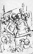 Study for The Judas Kiss: Christ and Judas