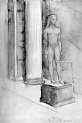 Statue of a kouros in the Metropolitan Museum of Art