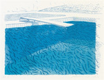 Lithographic Water made of lines, crayon and two blue washes without green wash (Pool II-D)
