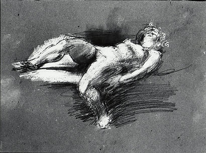 Nude Study (reclining female figure)