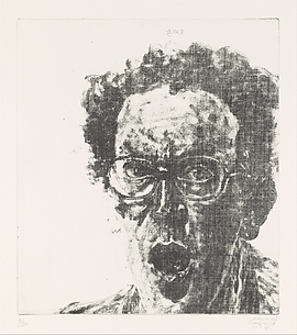 Self-Portrait with Open Mouth