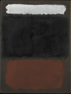 Untitled (White, Black, Rust, on Brown)