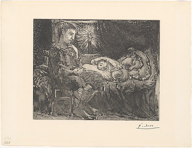 Boy and Sleeping Girl by Candlelight, from the <i>Vollard Suite</i>
