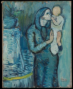 Mother and Child by a Fountain