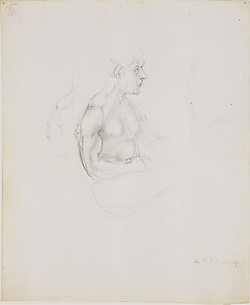 Study for Seated Man (Self-Portrait)