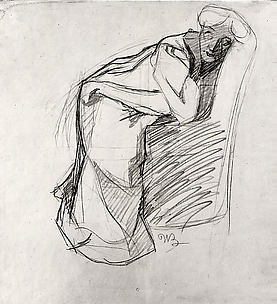 Woman Leaning on a Chair (The Artist's Sister)