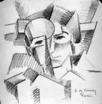 Cubist Study of A Head