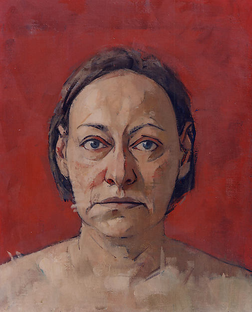 Self-Portrait (red background)