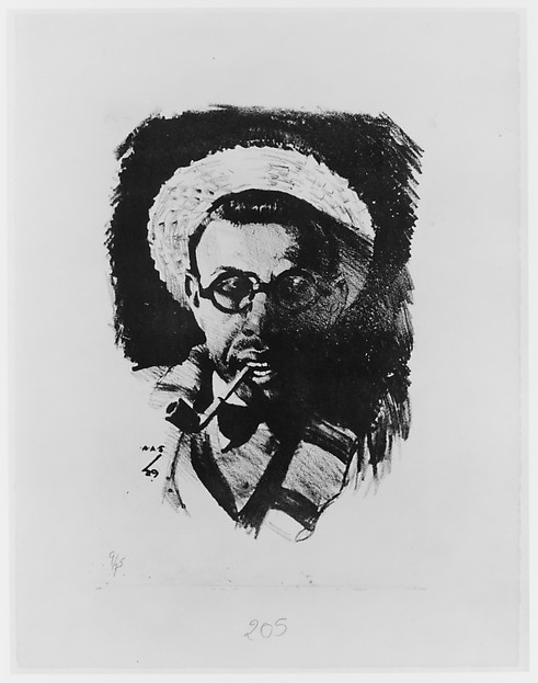 Self-Portrait with Hat and Pipe