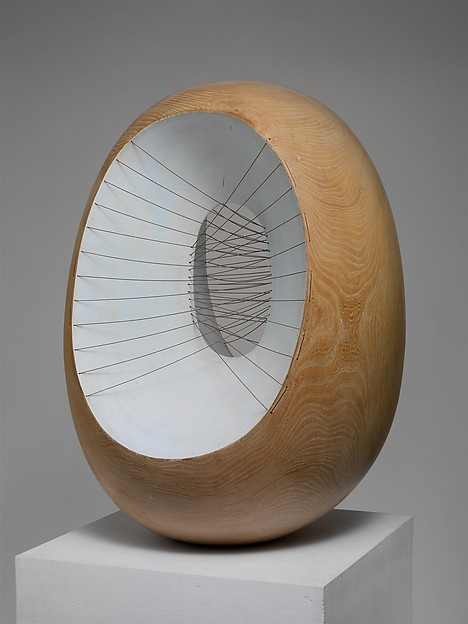 Oval Form with Strings and Color