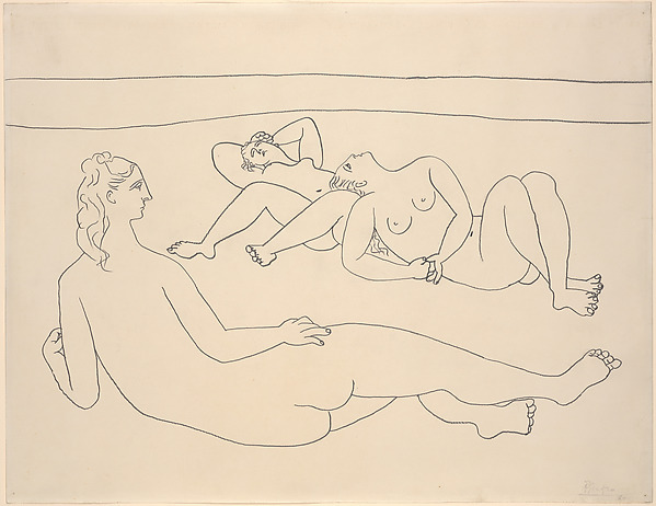Three Bathers Reclining by the Shore