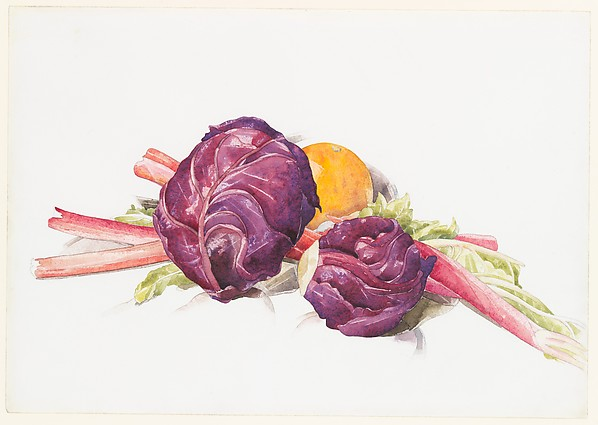 Red Cabbages, Rhubarb and Orange