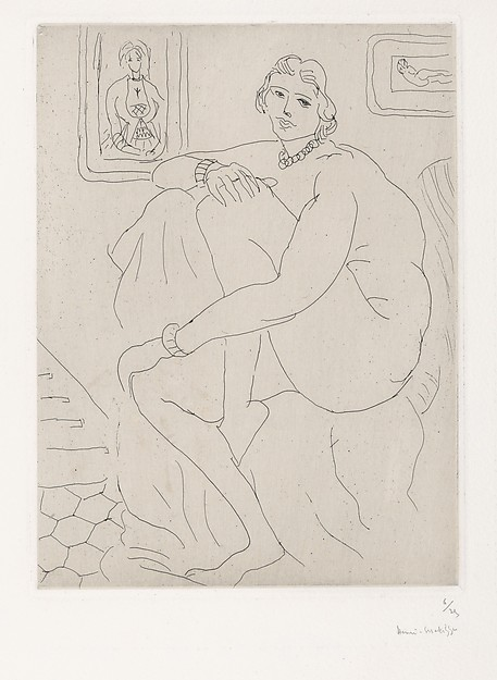 Nude Seated in the Studio