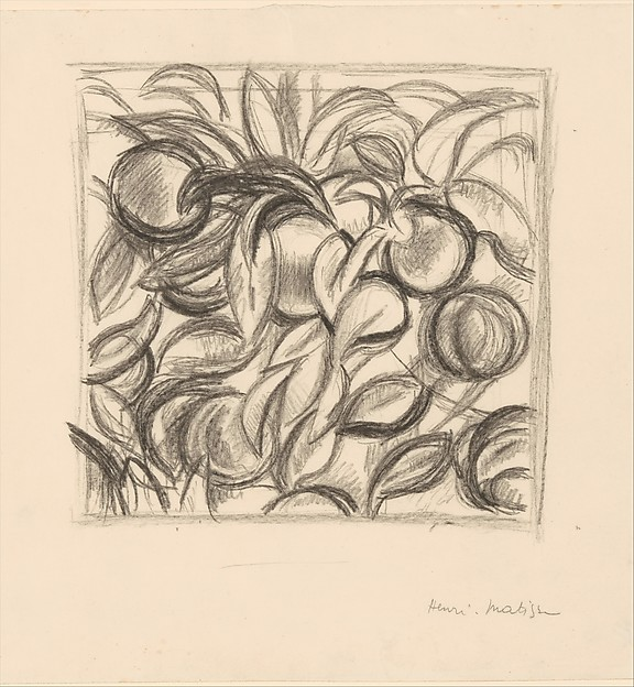 """Peaches and Leaves"" after Cézanne"