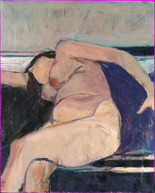 Reclining Nude - Pink Stripe