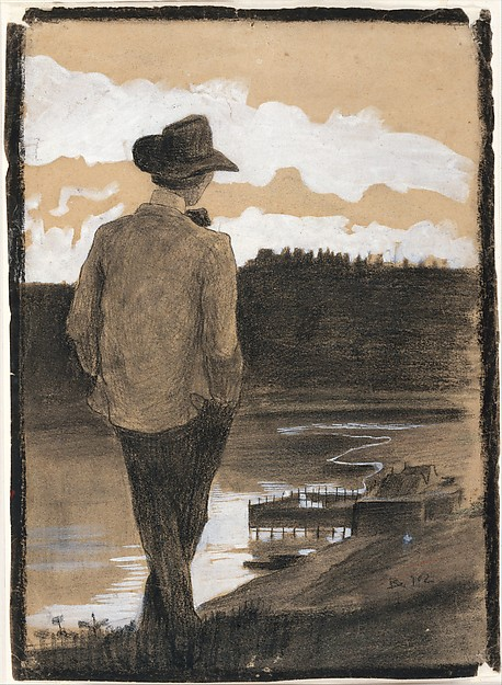 Young Man on a Riverbank
