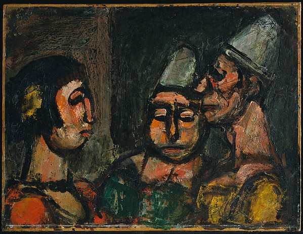Dancer with Two Clowns