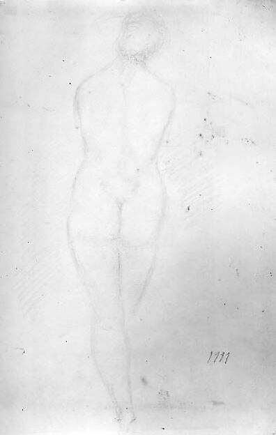 Standing Nude Woman, Back View