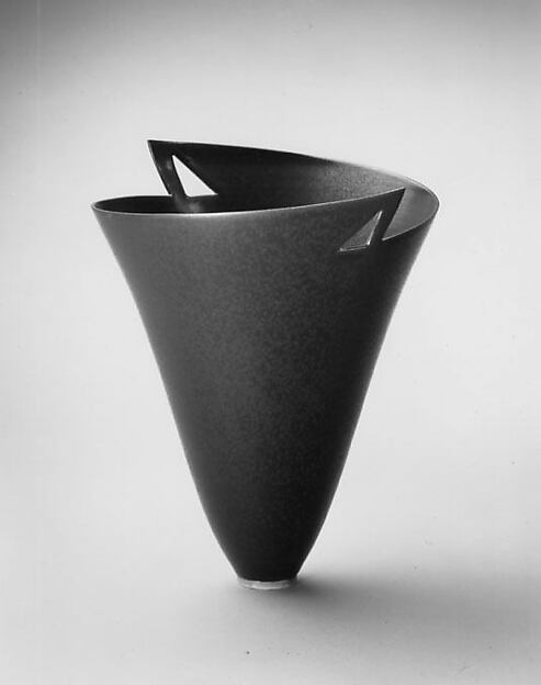"""Cold Rolled Steel / Double Triangles"" Vase"