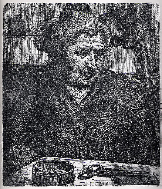 The Artist's Mother at a Table