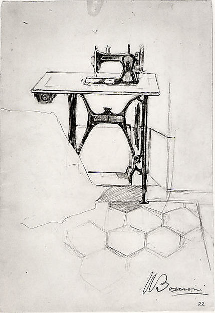 """Study for """"The Story of a Seamstress"""": Sewing Machine"""