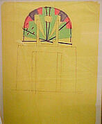 Art Deco Chair, Preliminary Study - Front Elevation