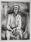 Seated Man with Suitcase