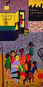 Study for Mural at Boys and Girls High School, Bedford-Stuyvesant, Brooklyn