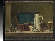 """Copy after Chardin's """"Pipes and Drinking Pitcher"""""""