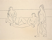 Three Bathers by the Shore