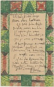 Illustrated Letter to Jean Cocteau