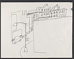 """Study for """"The Block"""" [lampost / buildings]"""